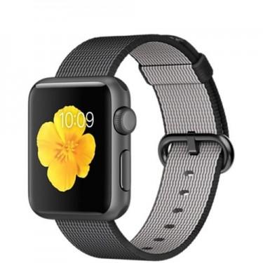 Ceas Apple Sport Watch 38mm carcasa din aluminiu negru si curea sport neagra MMF62LL
