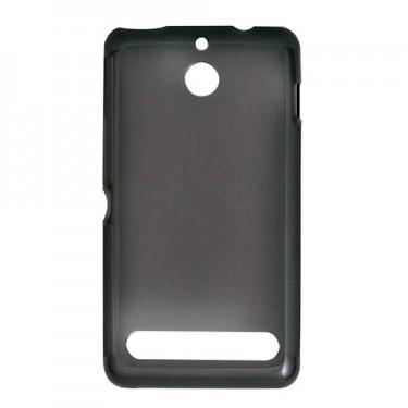 Capac protector Lemontti silicon si folie black transparent pt Nokia Lumia 625