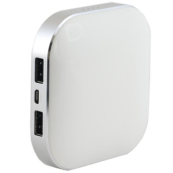 Baterie externa panasonic 9000mAh microusb dual charging white