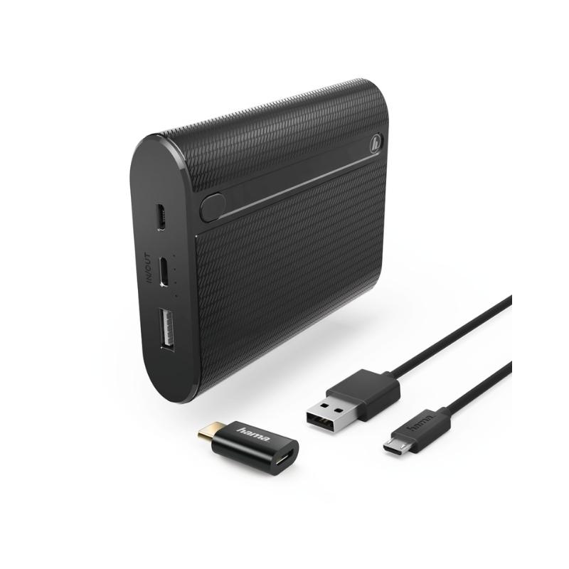 Baterie externa Hama Joy 00178984 13000 mAh si adaptor microUSB/Type C
