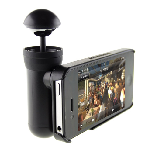 Dispozitiv video 360 Bubblescope si capac spate pt iPhone 5 / SE