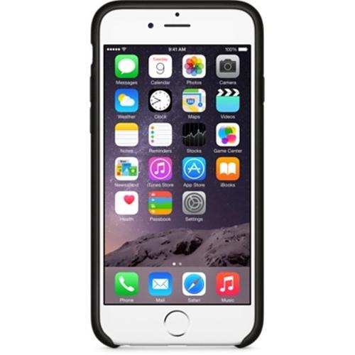 Capac protector Apple piele black pt iPhone 6 Plus