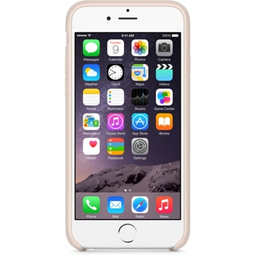 Capac protector Apple piele soft pink pt iPhone 6 Plus