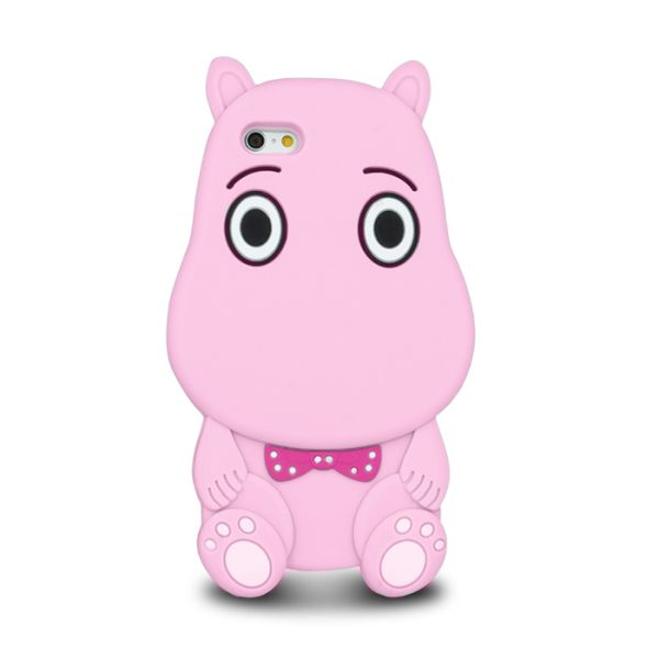 Capac protector silicon 3D Hippo pink pt Iphone 6S