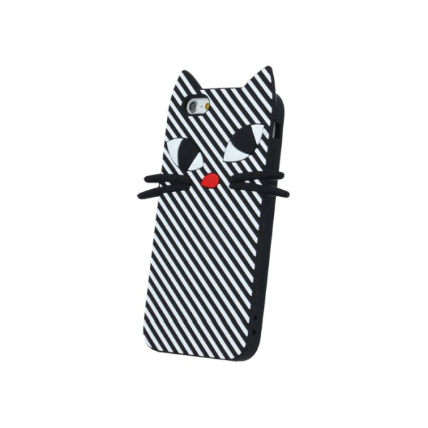 Capac protector silicon 3D Kitty black pt Iphone 6S