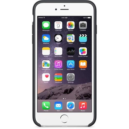 Capac protector Apple silicon black pt iPhone 6 Plus