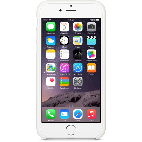 Capac protector Apple silicon white pt iPhone 6