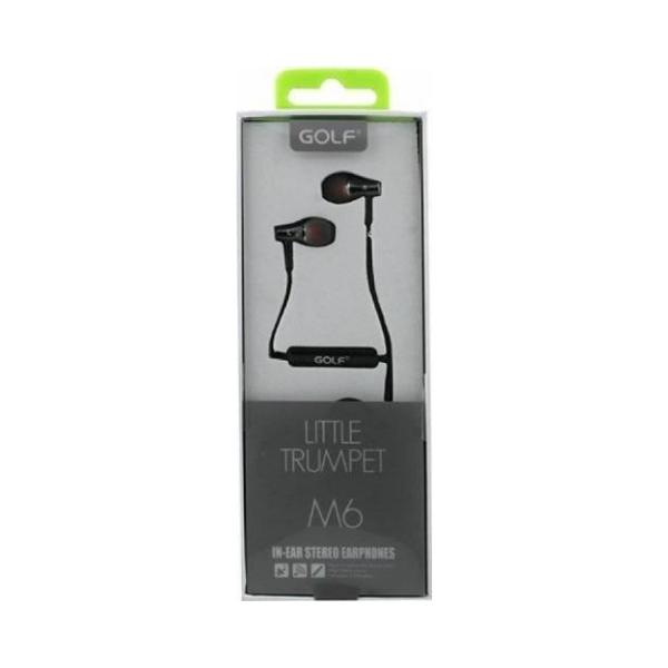 Casti cu fir si microfon Golf M6 black