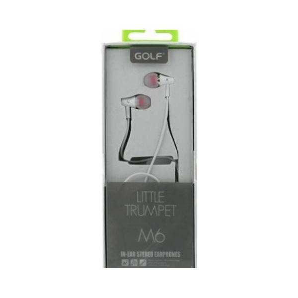 Casti cu fir si microfon Golf M6 white