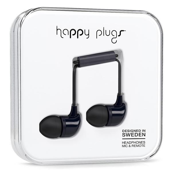 Casti cu fir si microfon happy plugs black