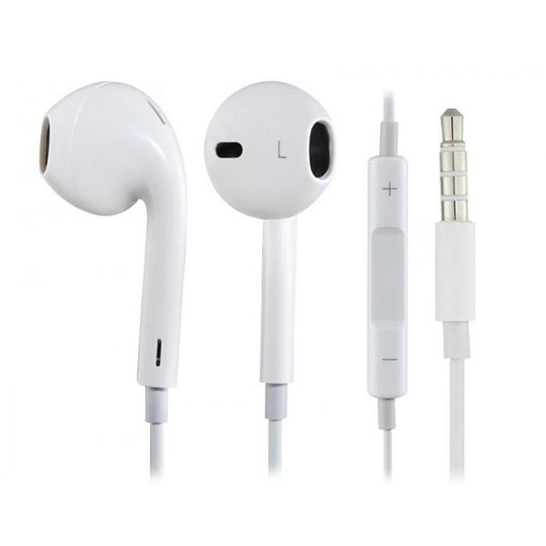 Casti cu fir si microfon white Apple earpods MD827 stereo