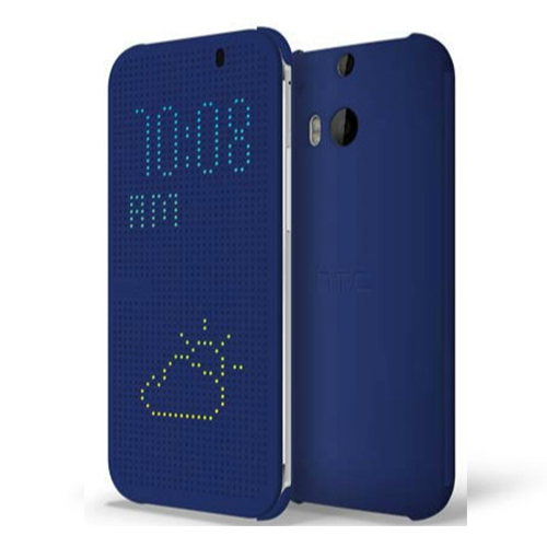 Husa HTC flip dot view HC M100 imperial blue pt One All New (M8)