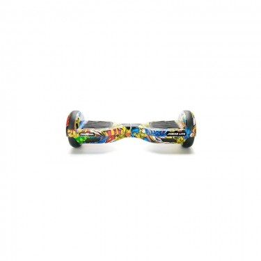 Hoverboard Freewheel Junior Lite Graffiti, autonomie pana la 12 km, viteza 12 km/h, 2 x 200 W, yellow