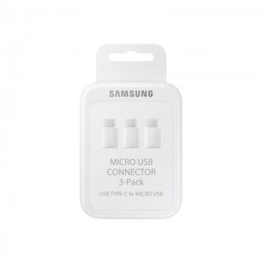 Set adaptor Samsung microUSB - USB Type-C, 3 buc, white