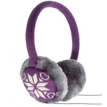 Aparatori urechi cu casti KitSound Snowflake, KSMUFSFPU1 Purple