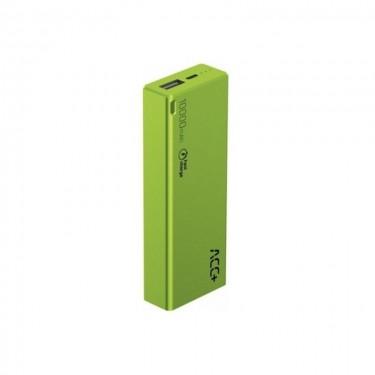 Baterie externa MaxCom ACC+ THIN 10000 mAh Fast Charge, green