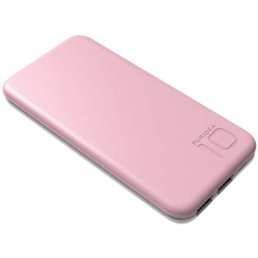 Baterie externa Puridea S2 10000 mAh 2 port USB rose gold 1