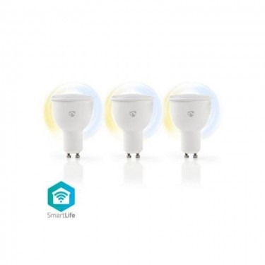 Bec WiFi Smart Nedis LED Bulbs  Warm to Cool White  GU10  3 pack