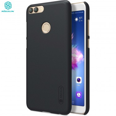 Husa protectie spate Nillkin frosted Black si folie pt Huawei P Smart
