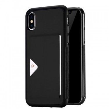 Husa protectie spate Dux Ducis black port card pt Iphone X