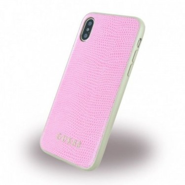 Husa protectie spate Guess Phyton pink pt iPhone X