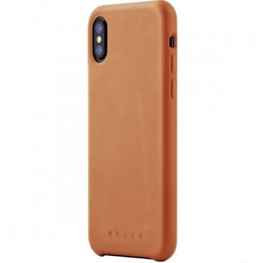 Husa protectie spate Mujjo brown pt iPhone X