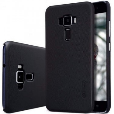 Husa protectie Nillkin Frosted Black si folie pt Asus Zenfone 3 Max CZ520TL