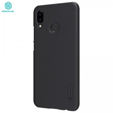 Capac protector Nillkin Frosted Black si folie pt Huawei P20