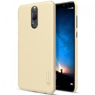 Husa protectie spate Nillkin Frosted Gold si folie pt Huawei Mate 10 Lite