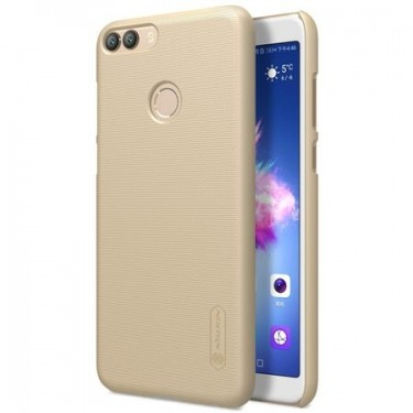 Husa protectie spate Nillkin frosted Gold si folie pt Huawei P Smart