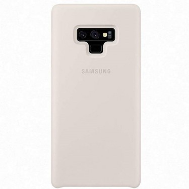 Capac protector Samsung silicone cover white pt Samsung Galaxy Note 9
