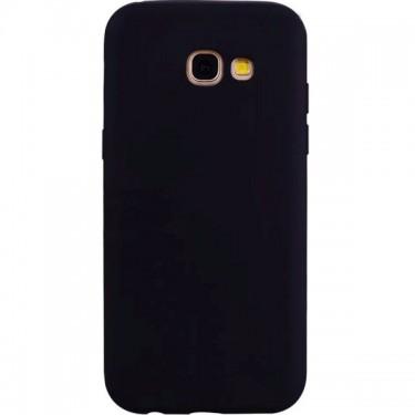 Husa protectie spate Star, black silicon pt Samsung Galaxy A7(2017)