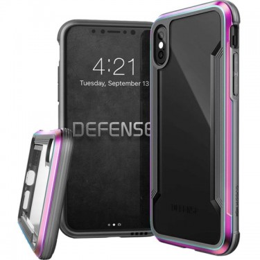 Husa protectie spate X-Doria Defence shield iridescent pt iPhone X