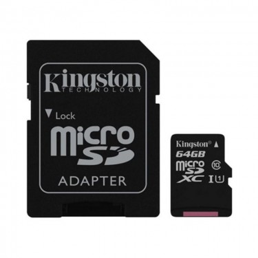 Card microSD Kingston SDCS 64GB cu adaptor