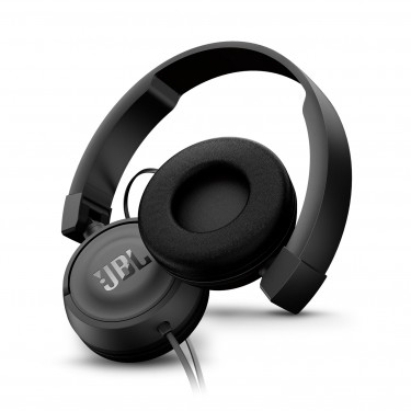 Casti audio on-ear cu microfon JBL T450, black