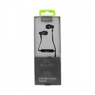 Casti cu fir & microfon Golf M6, black