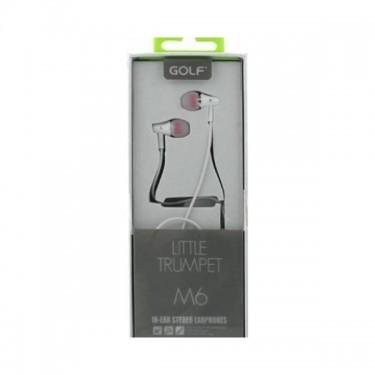 Casti cu fir si microfon Golf M6, white