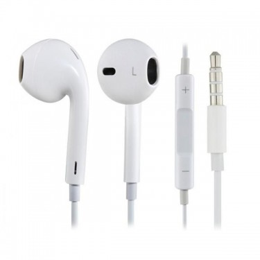 Casti cu fir si microfon white Apple earpods MD827 stereo