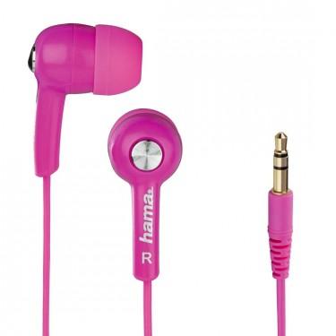 Casti Hama cu fir si microfon HK2103, pink
