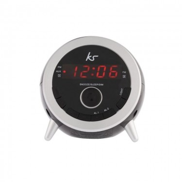 Ceas cu alarma KitSound Wake FM Radio, Black