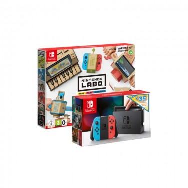 Consola Nintendo Switch Neon + Nintendo Labo Variety kit, redblue