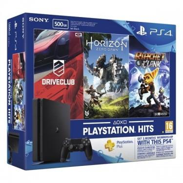 Consola Sony PlayStation 4 500GB + 3 jocuri + abonament inclus