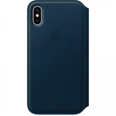 Husa Apple Folio piele electric blue pt Iphone X MRGE2ZM-A