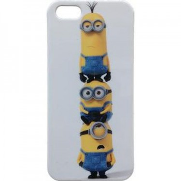 Husa protectie spate DespicableMe Minions Stack pt iPhone 5s