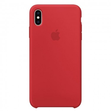 Husa protectie spate Apple MRWH2ZMA silicon red pt iPhone XS Max