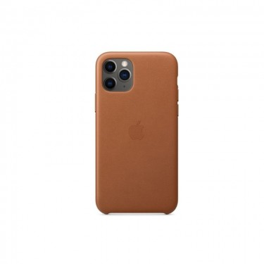 Husa protectie spate Apple MWYD2ZMA piele pt iPhone 11, saddle brown