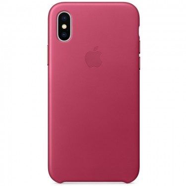 Husa protectie spate Apple piele MQTJ2ZM pink fuchsia pt iPhone X