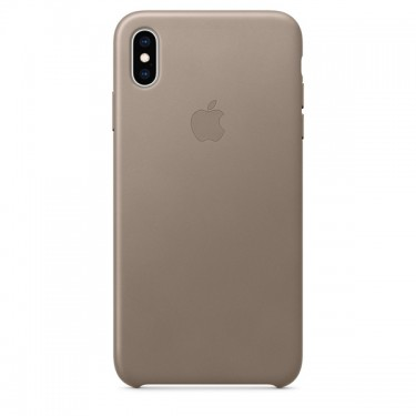 Husa protectie spate Apple piele taupe pt iPhone XS Max  MRWR2ZM