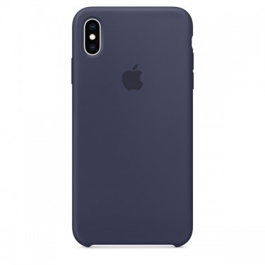 Husa protectie spate Apple silicon midnight blue pt iPhone XS Max MRWG2ZM