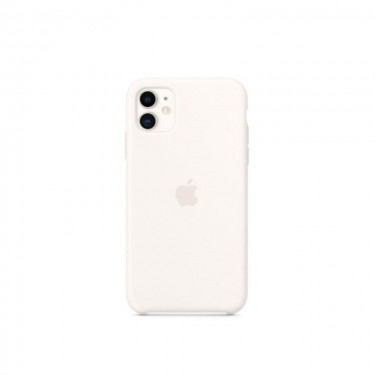 Husa protectie spate Apple silicon MWVX2ZMA pt iPhone 11, white
